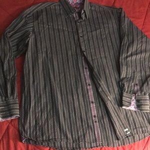 Lucklana men's long sleeve button up shirt 2X